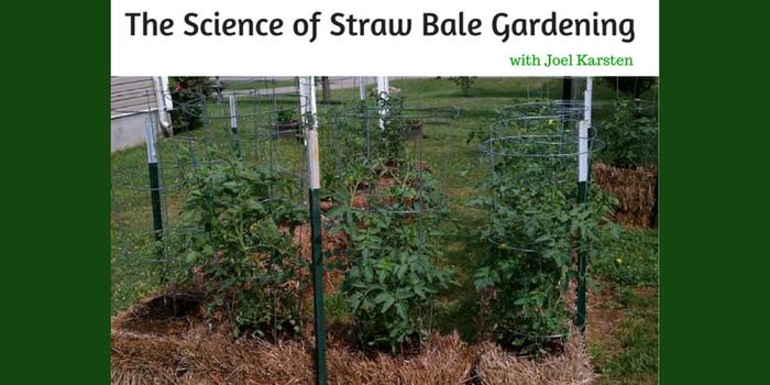 The science of straw bale gardening with joel karsten back to my garden for Straw bale gardening joel karsten
